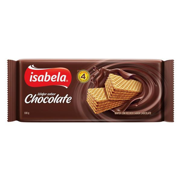 Biscoito Wafer Recheio Chocolate Isabela Pacote 100g