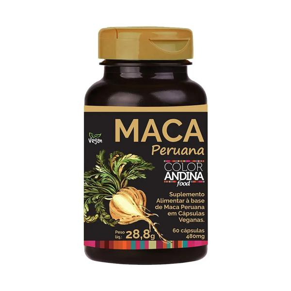 Maca Peruana Color Andina Amarela Capsula Vegana 100g