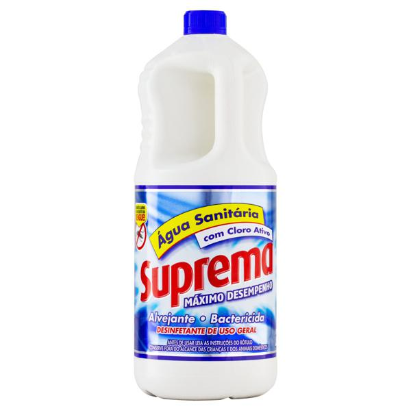 Água Sanitária Suprema Frasco 2l