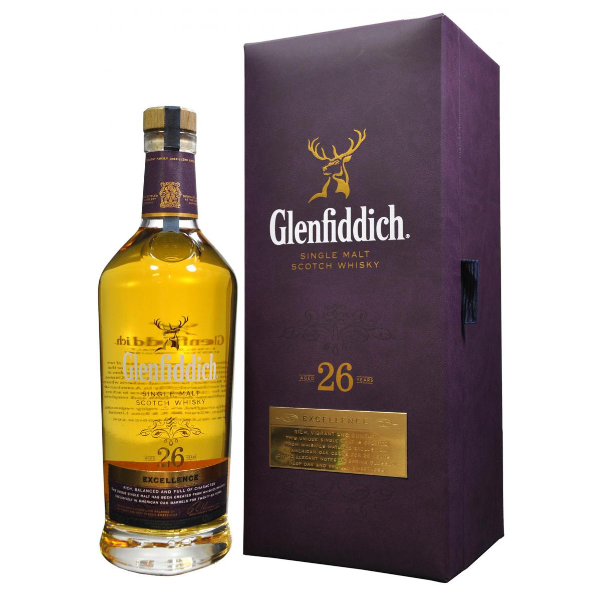 Whisky Glenfiddich Single Malt 26 anos Excellence 700ml