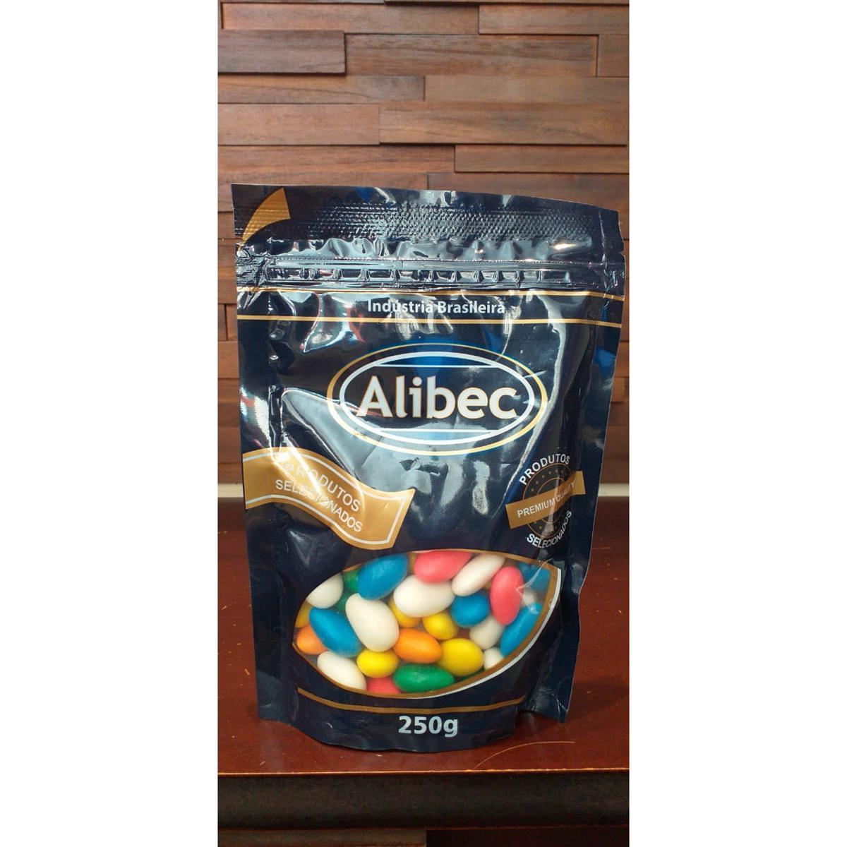 Amendoa Confeitada Colorida Alibec 250G
