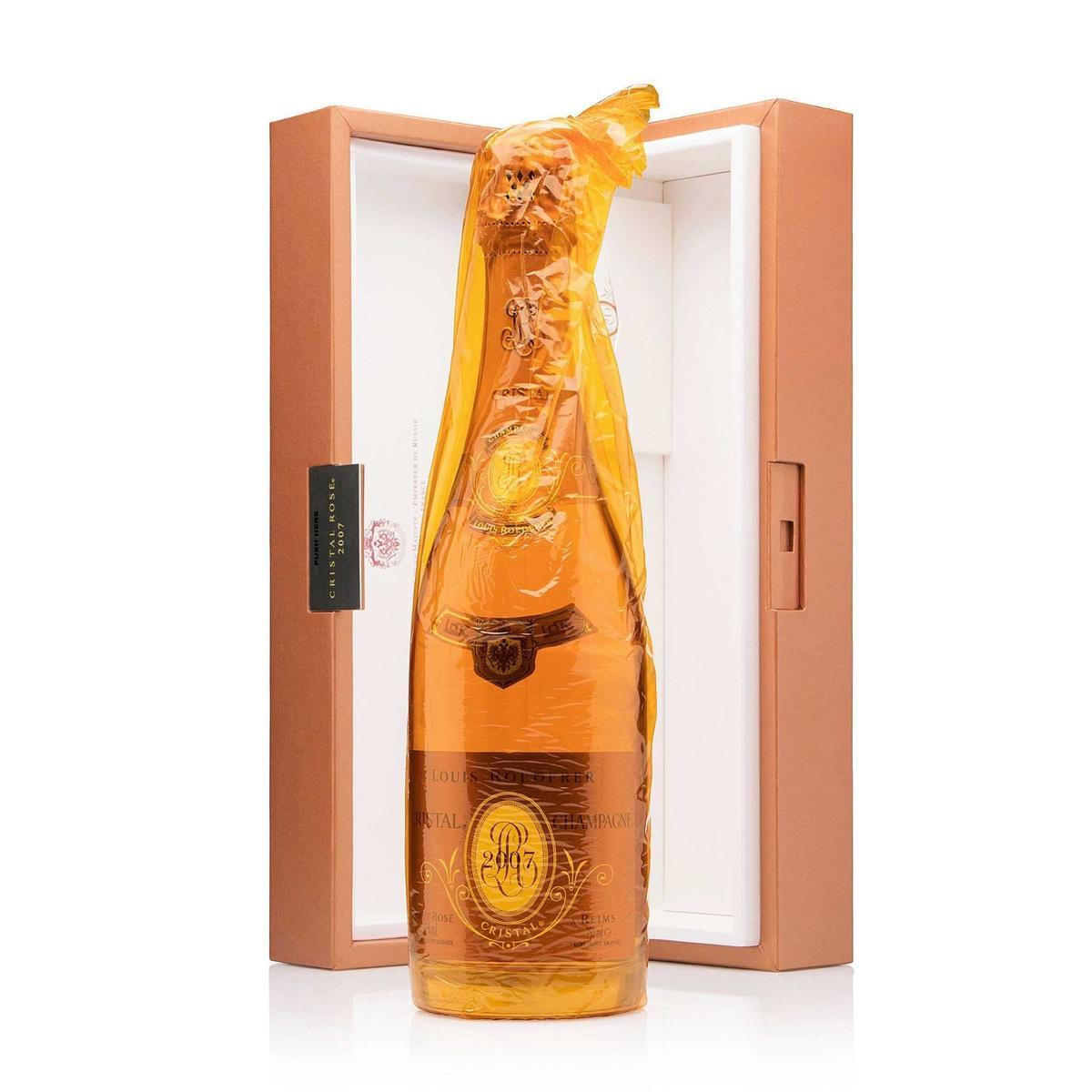 Champagne Cristal Brut Rosé Louis Roederer com estojo individual  2007/2008 750ml
