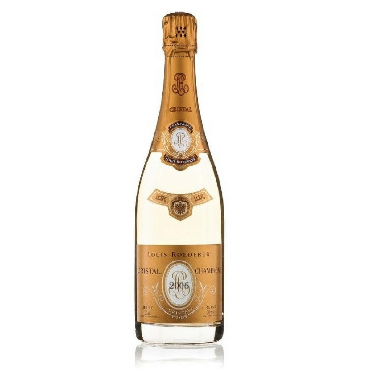 Champagne Cristal Brut Louis Roederer 1,5L com estojo de madeira