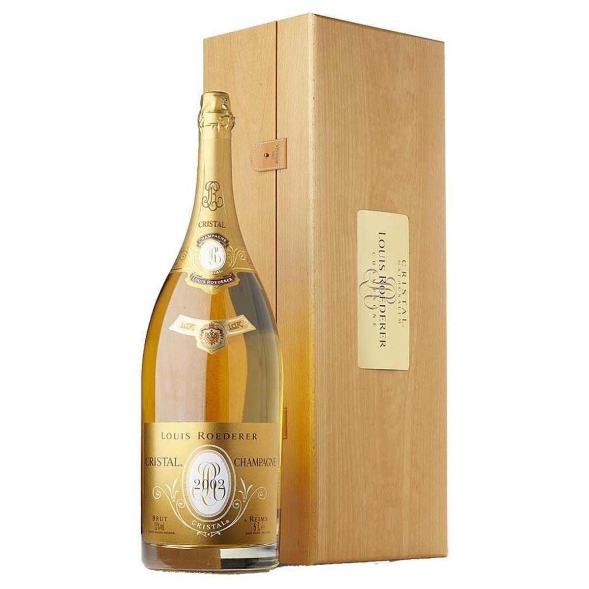 Champagne Cristal Brut Louis Roederer  2006 3 litros com estojo de madeira