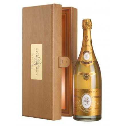 Champagne Cristal Brut Louis Roederer 1,5 litro com estojo de madeira