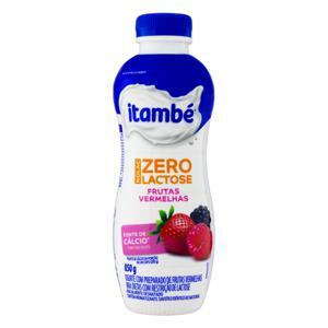 Iogurte Parcialmente Desnatado Frutas Vermelhas Zero Lactose Itambé Nolac Garrafa 850g