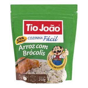 Arroz com Brócolis Tio João Cozinha Fácil Pacote 250g 2 Unidades