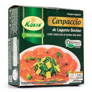 Carpaccio de Lagarto Orgânico 200g - Korin