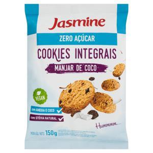 Biscoito Cookie Integral Manjar de Coco Zero Açúcar Jasmine Pacote 150g