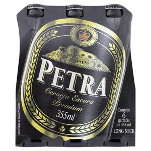 Pack Cerveja Lager Premium Petra Garrafa 6 Unidades 355ml Cada