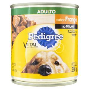 Alimento para Cães Adultos Frango ao Molho Pedigree Vital Pro Lata 290g