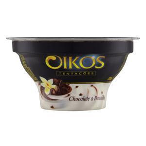 Sobremesa Láctea Chocolate & Baunilha Oikos Tentações Pote 100g