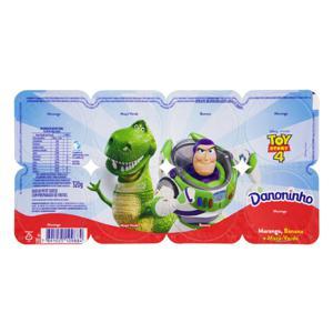 Queijo Petit Suisse Morango, Banana e Maçã-Verde Toy Story 4 Danoninho Bandeja 320g 8 Unidades