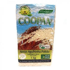 Arroz Agulhinha polido Orgânico Coopan (1Kg)