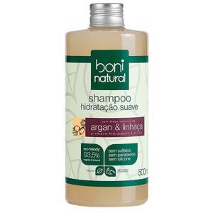 Shampoo argan e linhaça 500ml - Boni