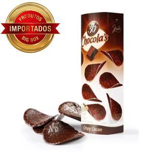 Folhas De Chocolate Belga Crocante Amargo 51% Cacau  125G