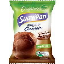 Muffin de Chocolate Vegano e Orgânico 40g - Suavipan