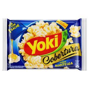Pipoca para Micro-Ondas Cobertura Manteiga Yoki Pacote 130g