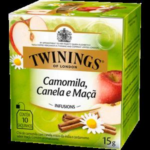 Chá Twinings Camomila, Canela e Maçã 10 Envelopes