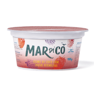 Creme de Coco Frutas Vermelhas 135g - Mardicô
