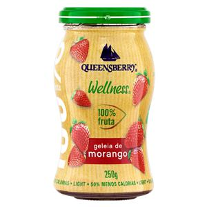 Geleia 100% Fruta Morango Light Queensberry Wellness Vidro 250g