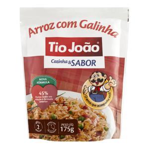 Arroz com Galinha Tio João Cozinha & Sabor Pacote 175g