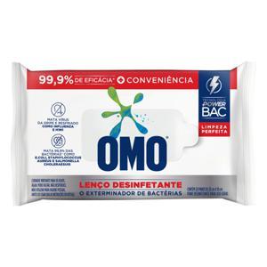 Lenço Umedecido Desinfetante Omo Limpeza Perfeita 20cm x 18cm Pacote 20 Unidades