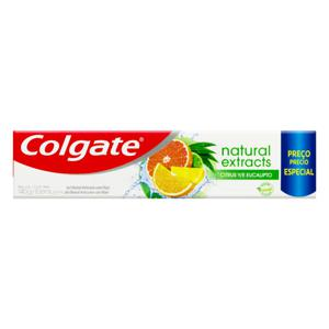 Gel Dental Reinforced Defense Citrus e Eucalipto Colgate Natural Extracts Caixa 140g