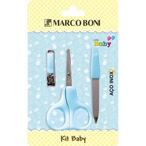 Kit  Manicure  Infantil com 3 Itens  Azul Marco Boni