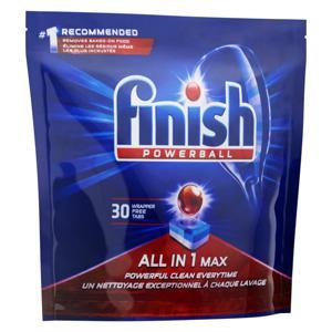 Detergente Tablete para Máquina de Lavar Louças Finish Powerball All In 1 Max Pouch 510g 30 Unidades