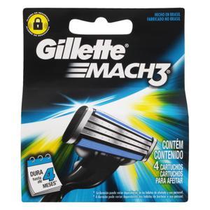 Carga para Aparelho de Barbear Gillette Mach3 4 Unidades