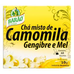 Chá Camomila, Gengibre e Mel Barão de Cotegipe Caixa 10g 10 Unidades