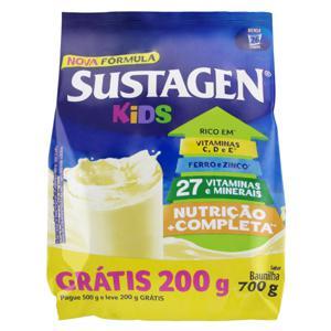 Pó para Preparo de Bebida com Vitaminas e Minerais Baunilha Sustagen Kids Pacote Leve 700g Pague 500g