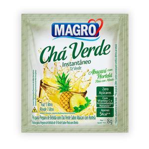 Chá verde instantâneo sabor abacaxi com hortelã Magro - sachê de 8 g