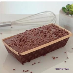 Bolo vegano de chocolate com cobertura 400g - Biomotive