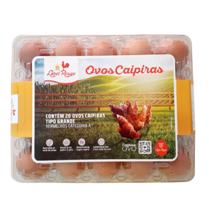 Ovos Caipira Label Rouge 20 Unidades
