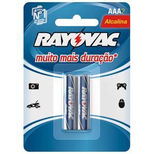 Pilha Alcalina RAYOVAC AAA com 2 Unidades