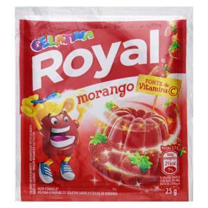 Gelatina em Pó Morango Royal Pacote 25g