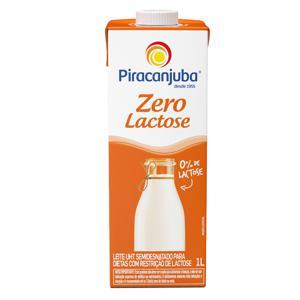 Leite UHT Semidesnatado Piracanjuba Zero Lactose  1L