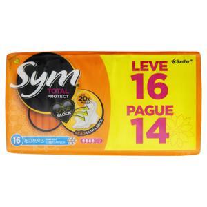 Absorvente com Abas Seca Total Protect Sym Pacote Leve 16 Pague 14 Unidades