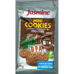 Biscoito Jasmine 35g Mini Cookies Chocolate