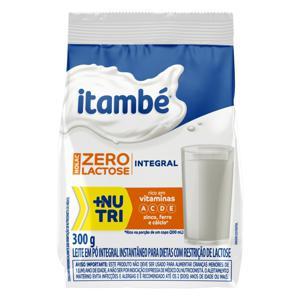Leite em Pó Instantâneo Integral Zero Lactose Itambé Nolac Pacote 300g