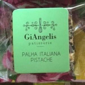 Palha Italiana de Pistache, 4 unidades de 50g - GiAngelis Patisserie