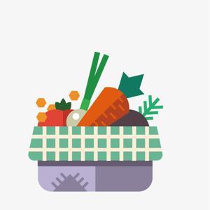 Cesta de Legumes e Verduras Grande