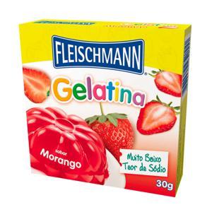 Gelatina Fleischmann Morango 20Gr