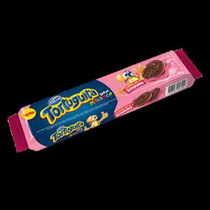 Biscoito Recheado Tortuguita Tortini Morango 90g