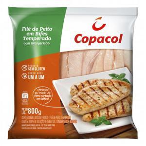 Filé de Peito em Bifes Temperado com Manjericão 800g IQF COPACOL
