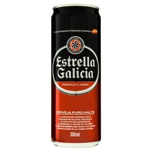 Cerveja Lager Premium Puro Malte Estrella Galicia Lata 350ml