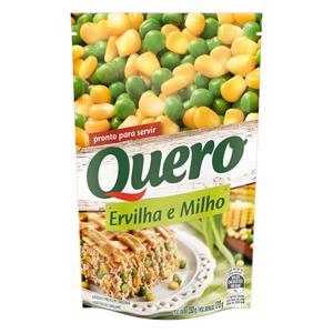Ervilha e Milho Verde em Conserva Quero Sachê 170g