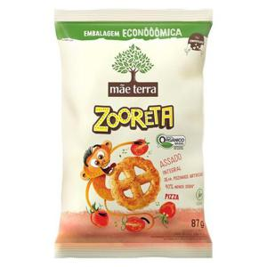 Salgadinho Zooreta Sabor Pizza Orgânico 87g - Mãe Terra